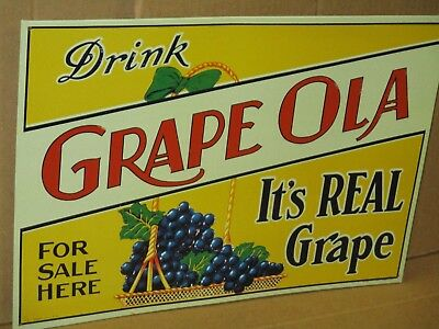 GRAPE OLA - It's REAL Grape - For Sale Here - Made in USA ... LOUISVILLE KY Sign