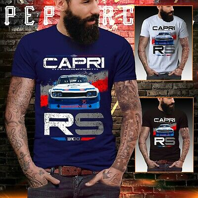 Ford capri t shirt RS 3100 2600 touring boy racer mens top Vintage petrol head