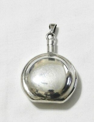 Vintage Taxco Mexican Sterling Silver Perfume Bottle Pendant Necklace TC-60