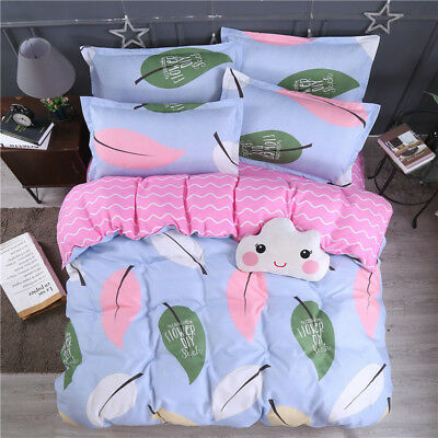 Green Leaves Duvet Quilt Doona Cover Set Queen King Size Bed Set Pillowcases New