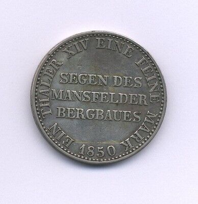 Germany  Prussia 1850-A  Thaler (Taler) Silver Coin, Xf+