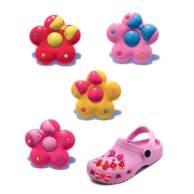 20pcs Lovely Flowers PVC Shoes Charms fit for Croc & Jibbitz Wristbands Gifts