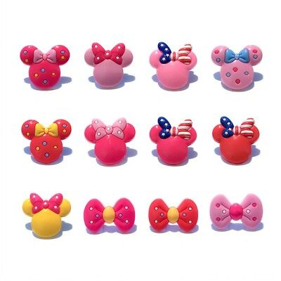 24pcs Cute Bow PVC Shoes Charms fit for Croc & Jibbitz Wristbands Gifts