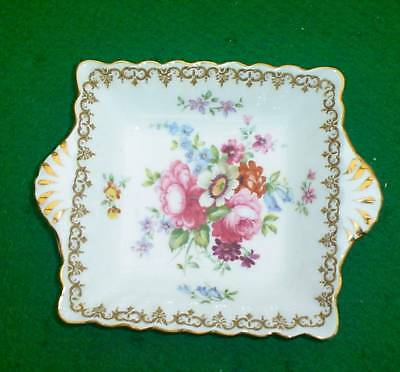 """Crown Staffordshire """"englands Boquet""""  Small Square Serving Dish"""