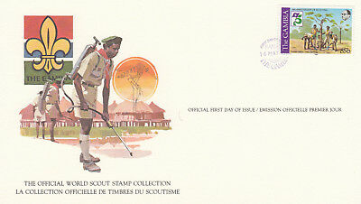 (14072) Gambia FDC Card Scouts 16 May 1982