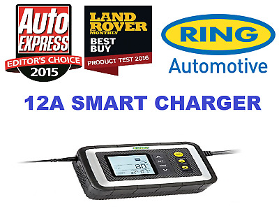 Ring RSC612 12 Amp Smart Car Battery Charger - Suitable For Stop / Start