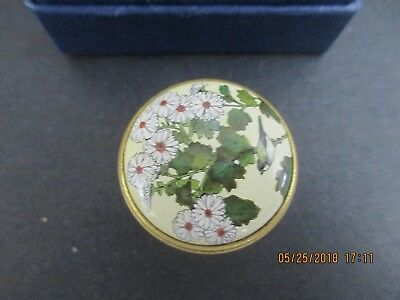 Halcyon Days Shin ' Enkan Collection Enamel Trinket Box