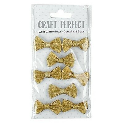 Craft Perfect By Tonic Studios Craft Perfect, Gold Glitter Bows