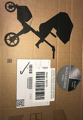 Stokke Xplory Silver Chassis w/ Black Handle Baby Stroller CHOOSE GREY or BLACK