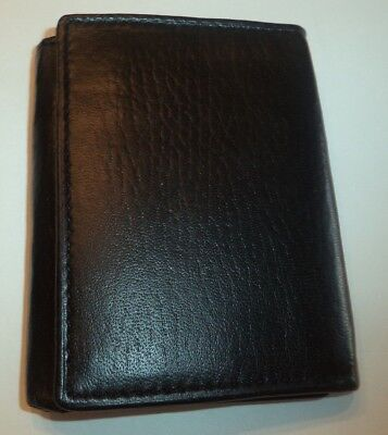 Amity Exterior Window ID Trifold Genuine Leather Wallet,Brown
