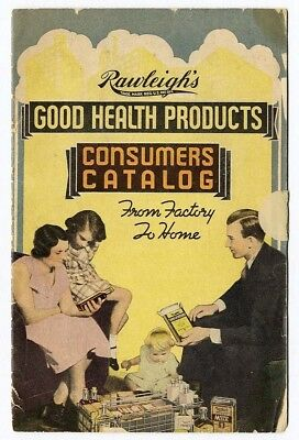 Rawleigh's GOOD HEALTH PRODUCTS Catalog 1920s Shampoo COSMETIC Food MEDICAL CURE