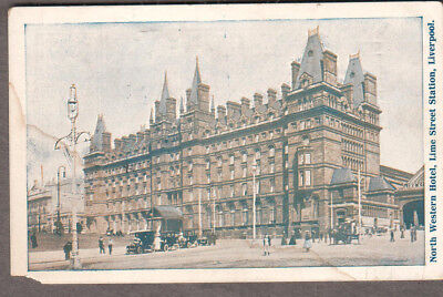 1912 North Western Hotel Liverpool post card passenger from ship SS Levonian