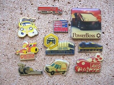 Lot 10 Pin's Voiture Auto Automobile Transport Camion Car Truck Pins Pin T14