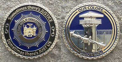 """NYSDOCCS New York State Correction Officer 2"""" Justice Challenge Coin NYSDOCS"""