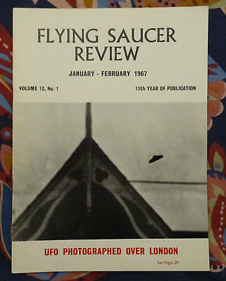FLYING SAUCER REVIEW MAGAZINE Vol 13 No.1 1967 UFO Photograped Over London FSR