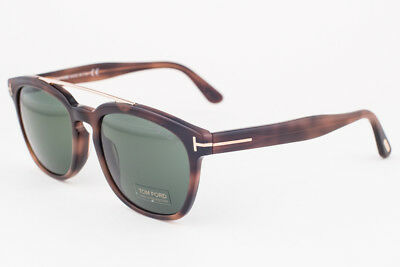7aa0c95fbb TOM FORD SUNGLASSES 0516 Holt 53N Blonde Havana Green -  238.00 ...