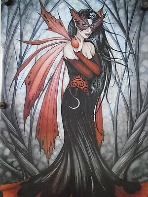 Mask of Autumn #3508 - Fantasy art - Orig. poster in Exc. new cond. / 23 x 35""