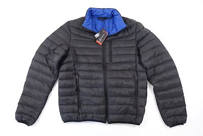 50bd9a8b4 INC INTERNATIONAL CONCEPTS Navy Color-Block Quilted Down Puffer ...