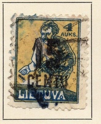 Lithuania 1922 Early Issue Fine Used 15c. Surcharged 227674