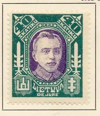 Lithuania 1922 Early Issue Fine Mint Hinged 40sk. 227646
