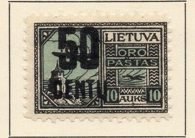 Lithuania 1922 Early Issue Fine Mint Hinged 50c. Surcharged 227679