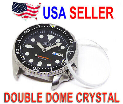Double Dome Watch Mineral Glass Crystal fits Seiko SKX007 200M Diver 7S26-0020