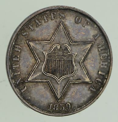 1859 Silver Three-Cent Piece - Circulated *9637