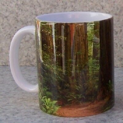 Coffee Mug Camping Family Man His Cave His Rules NEW 18 ounce cup with gift box