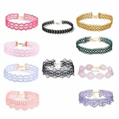 10Pcs/lot Bulk Women Lace Choker Necklace Velvet Pretty Ladies Random Color