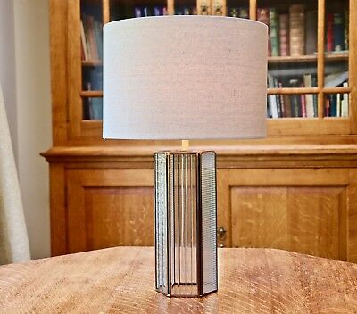 john lewis rhea glass brass table lamp bnib second 42 00