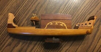 Vintage Dancing Ballerina Gondola Wooden Case Music Jewelry Box
