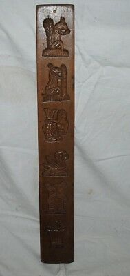 Antique German Black-Forest-Wood-Carving-Springerle-Cookie-MOLD, two sided