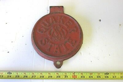 Old Cast Iron Quaker State Gas Station Lubester Lid Cover
