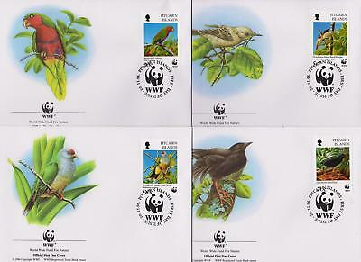 Pitcairn Islands 1991 WWF - Local Birds - 4 First Day Covers FDC - (189)