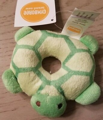 Gymboree BRAND NEW BABY Green Turtle Rattle NWT UNISEX
