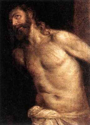 """Handmade Oil Painting repro  Titian - The Flagellation of Christ 20""""x24"""""""