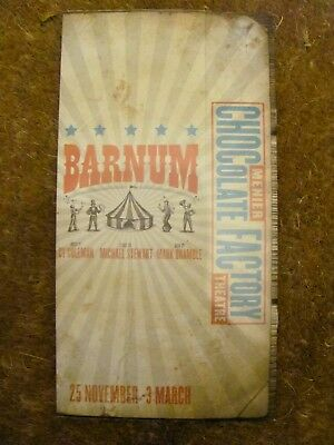 Barnam London Musical Theatre Programme Signed Cast Uk Charity