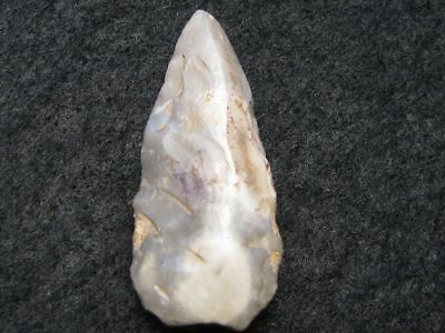 7200Y.O: GREAT ARROW HEAD POINT 34mms STONE AGE NEOLITHIC FLINT LINEAR POTTERY C