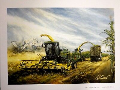 JOHN DEERE TRACTOR ART by RAY CROUSE - ASTONISHING SPIRITS - SIGNED PRINT ONLY