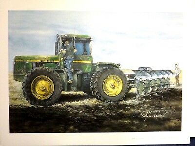 JOHN DEERE TRACTOR ART by RAY CROUSE - PERFORMANCE CHECK - SIGNED PRINT ONLY