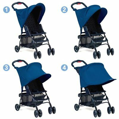Kiddopotamus (Summer) RAY SHADE SIngle STROLLER COVER Navy Blue