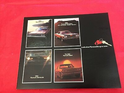 "1969 Plymouth ""Barracuda-Road Runner-GTX-Fury-Belvedere+"" Dealer Sales Brochure"