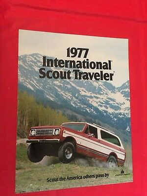 "1977 International ""Scout Traveler"" Car Truck Dealer Sales Brochure"