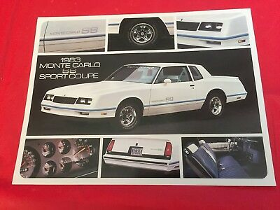"1983 Chevrolet ""Monte Carlo SS Sport Coupe"" Car Dealer Sales Brochure"