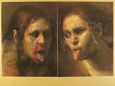 2001 Odd Nerdrum Two Tongues painting Forum Gallery vintage print Ad