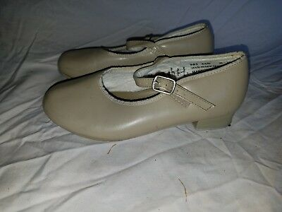 Revolution Dancewear Size 3 AD Tan Used Mary Jane Tap Dance Shoes