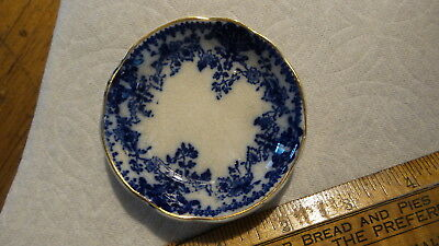 Antique Flow Blue China BUTTER PAT Milan