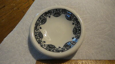 Vintage Restaurant Ware  BUTTER PAT Black Ornate Scallop Design