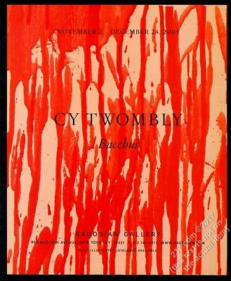 2005 Cy Twombly Bacchus art NYC gallery show vintage print ad