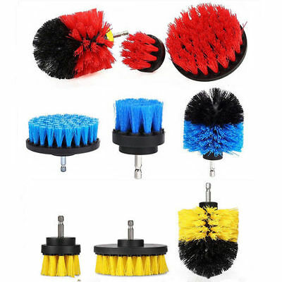 3PCs Durable PP Round Electric Drill Brush Sets Tire Brush Tub Cleaner Combo